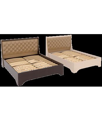 Кровать двуспальная КР-05.1400 Офелия. Дуб молочный, венге.