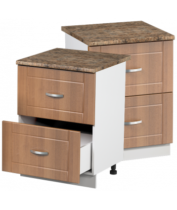 Кухонный шкаф с двумя ящиками КШС-04, шириной 600 мм