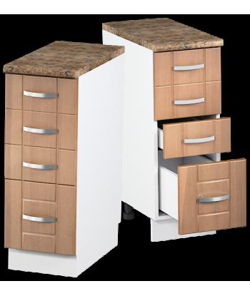 Кухонный шкаф с четырьмя ящиками КШС-07, шириной 300 мм
