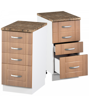 Кухонный шкаф с четырьмя ящиками КШС-08, шириной 400 мм