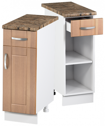 Кухонный однодверный шкаф с ящиком КШС-09, шириной 300 мм