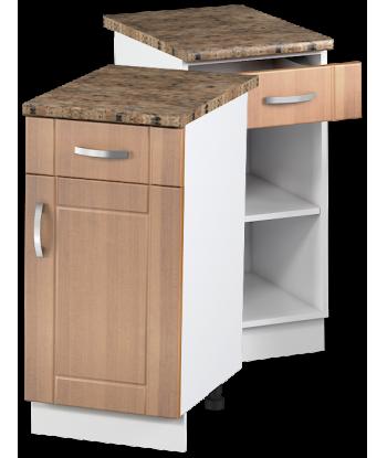 Кухонный однодверный шкаф с ящиком КШС-10, шириной 400 мм
