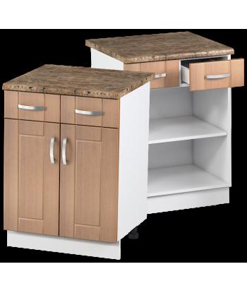 Кухонный двухдверный шкаф с ящиками КШС-11, шириной 600 мм