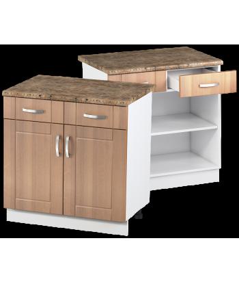 Кухонный двухдверный шкаф с ящиками КШС-12, шириной 800 мм