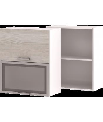 Кухонный навесной шкаф со стеклом НШ-04_ВГ, 600 мм