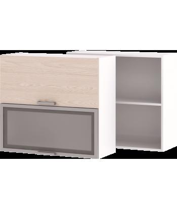 Кухонный навесной шкаф со стеклом НШ-06_ВГ, 800 мм