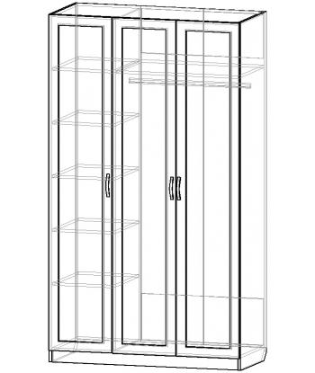 Шкаф для одежды ШО-1200.1 серии New Line (схема)
