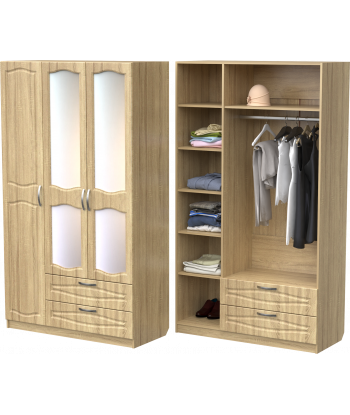 Шкаф для одежды ШО-1200.3 (дуб сонома)
