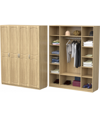 Шкаф для одежды ШО-1600.1 (дуб сонома)