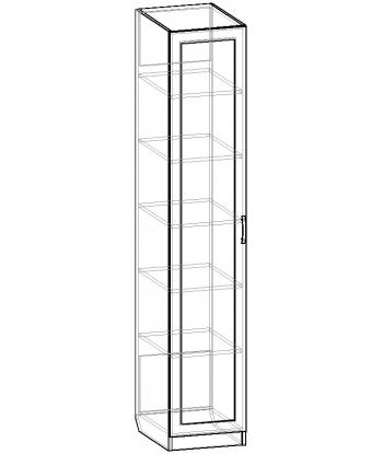 Шкаф для одежды ШО-400.2 серии New Line (схема)
