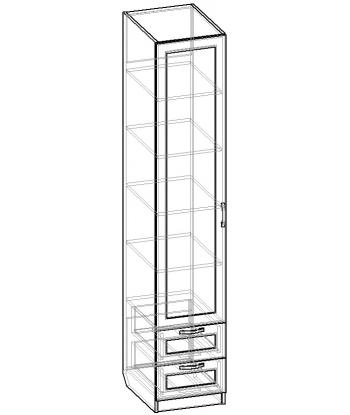 Шкаф для одежды ШО-400.5 серии New Line (схема)