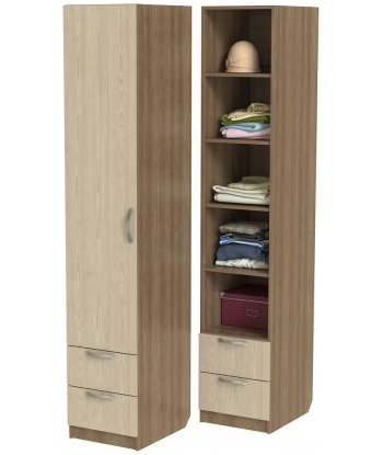 Шкаф для одежды ШО-400.5 (ясень шимо)