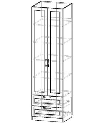 Шкаф для одежды ШО-600.5 серии New Line (схема)