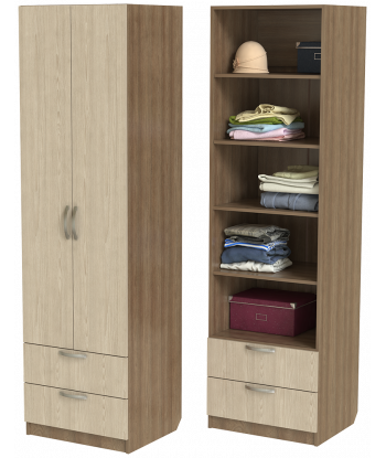 Шкаф для одежды ШО-600.5 (ясень шимо)