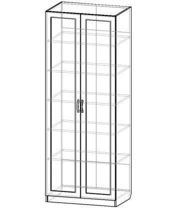 Шкаф для одежды ШО-800.2 серии New Line (схема)