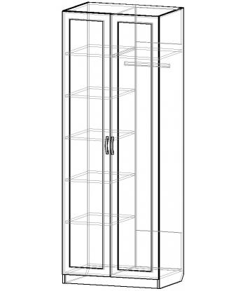 Шкаф для одежды ШО-800.3 серии New Line (схема)