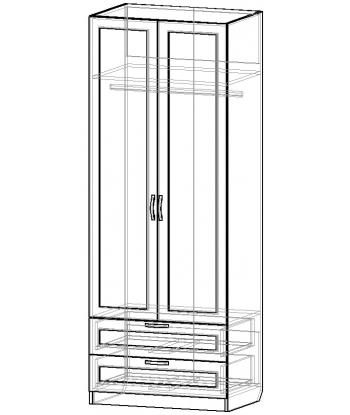 Шкаф для одежды ШО-800.4 серии New Line (схема)