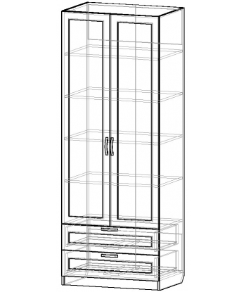 Шкаф для одежды ШО-800.5 серии New Line (схема)