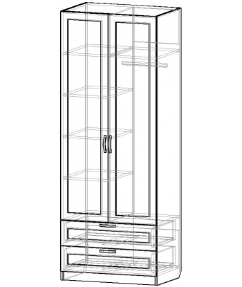Шкаф для одежды ШО-800.6 серии New Line (схема)
