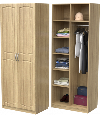 Шкаф для одежды ШО-800.3 (дуб сонома)
