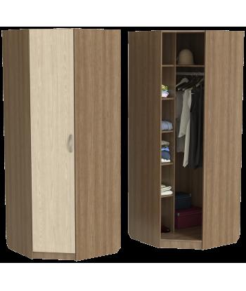 Угловой шкаф для одежды ШО-800УГ серии New Line (цвет шимо)