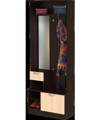 Шкаф для прихожей ШП-02, ВМ (венге + дуб молочный)