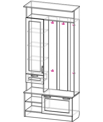 Шкаф для прихожей ШП-04 (схема)