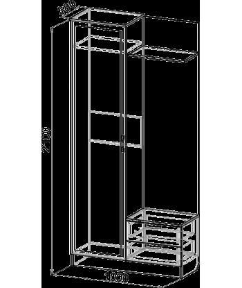 Шкаф для прихожей ШП-08 (схема)