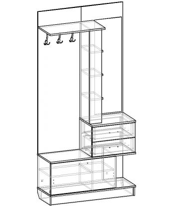 Шкаф для прихожей ШП-09 (схема)
