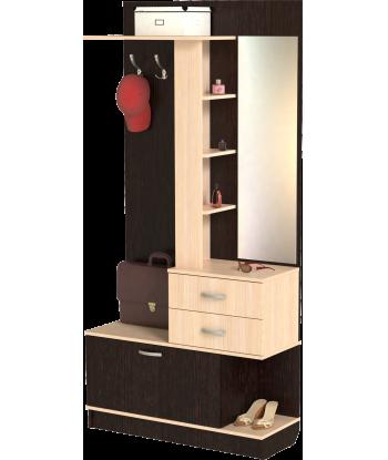 Шкаф для прихожей ШП-09, ВМ (венге + дуб молочный)