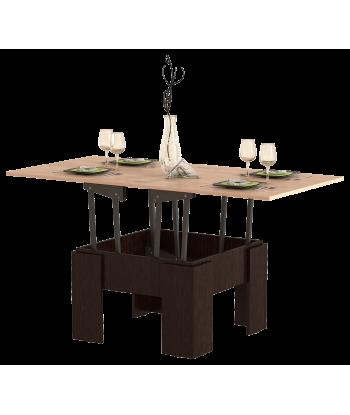 Стол журнальный раскладной СЖ-01, МВ (дуб молочный + венге)