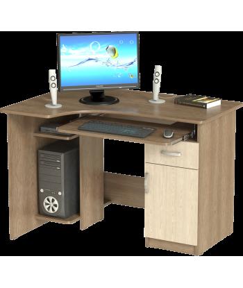 Стол компьютерный СК-09, шимо темный/шимо светлый