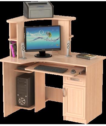 Стол компьютерный СК-10, дуб молочный