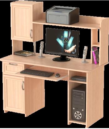 Стол компьютерный СК-13, дуб молочный