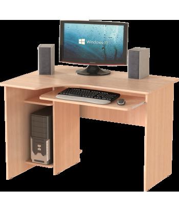 Стол компьютерный СК-15, дуб молочный