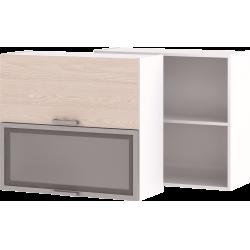 Кухонный навесной шкаф со стеклом НШ-06_ВГ