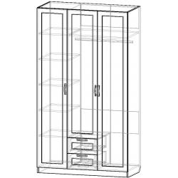 Шкаф для одежды ШО-1200.2 серии New Line (схема)