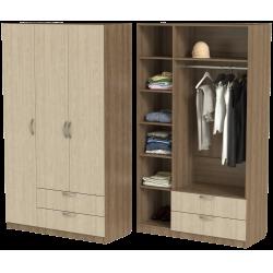 Шкаф для одежды ШО-1200.3 серии New Line (цвет шимо)