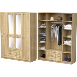 Шкаф для одежды ШО-1600.3 (дуб сонома)