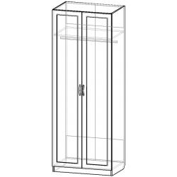 Шкаф для одежды ШО-800.1 серии New Line (схема)