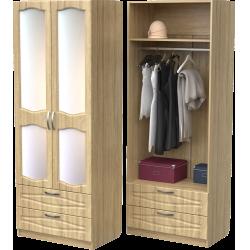 Шкаф для одежды ШО-800.4 (дуб сонома)