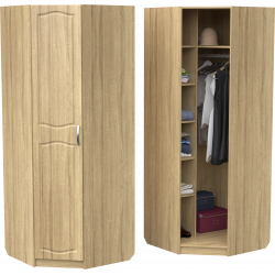 Шкаф для одежды ШО-800 УГ (дуб сонома)