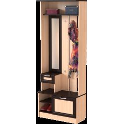 Шкаф для прихожей ШП-02, МВ (дуб молочный + венге)