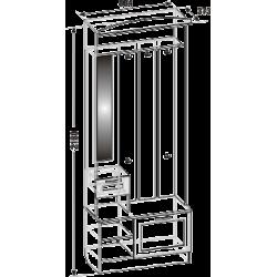 Шкаф для прихожей ШП-02 (схема)