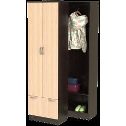 Шкаф для прихожей ШП-03 (дуб венге + дуб молочный)