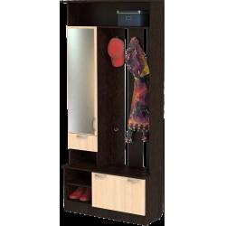 Шкаф для прихожей ШП-04, ВМ (венге + дуб молочный)
