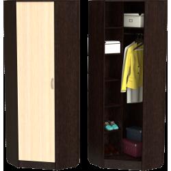 Шкаф для прихожей ШП-10, МВ (дуб молочный + венге)