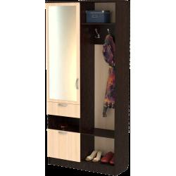 Шкаф для прихожей ШП-12, МВ (дуб молочный + венге)