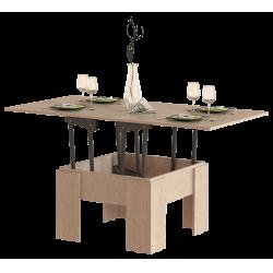 Стол журнальный раскладной СЖ-01, ясень шимо светлый