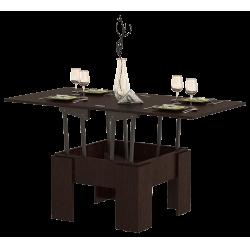 Стол журнальный раскладной СЖ-01, дуб венге